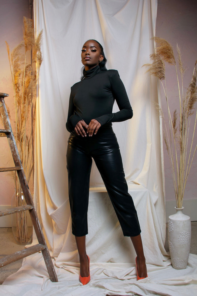 ASHLEY BLACK TURTLENECK BODYSUIT