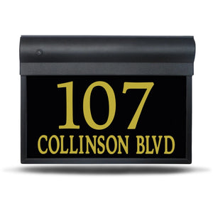 "SL-101-14""– Modern With Street Name – Illuminated Address Sign"