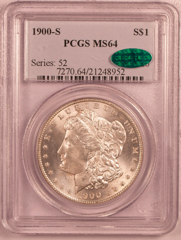 1900-S Morgan Dollar  PCGS MS64 with CAC