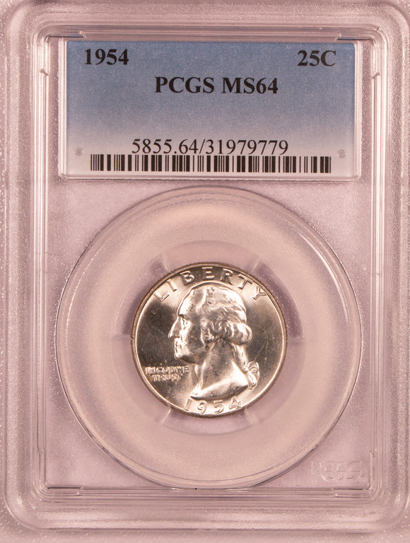 1954 Washington Quarter   PCGS MS64