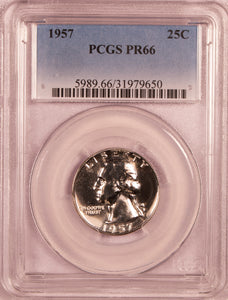 1957 Washington Quarter   PCGS PR66