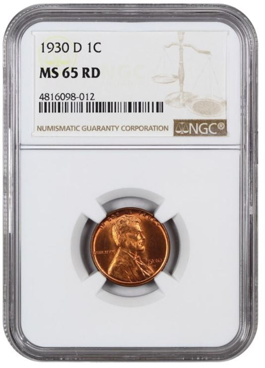 1930-D Lincoln Cent  NGC MS65RD     4816098-012