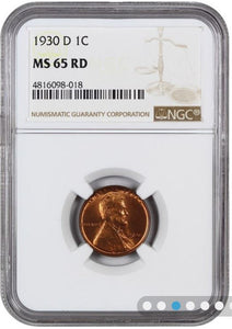 1930-D LIncoln Cent  NGC MS65RD         4816098-018