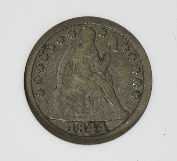 1844 Liberty Seated Dime ANACS F12