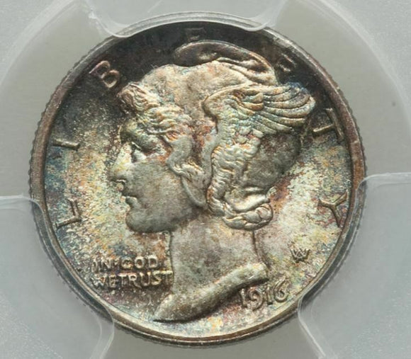 1916 Mercury Dime  PCGS MS67FB and CAC