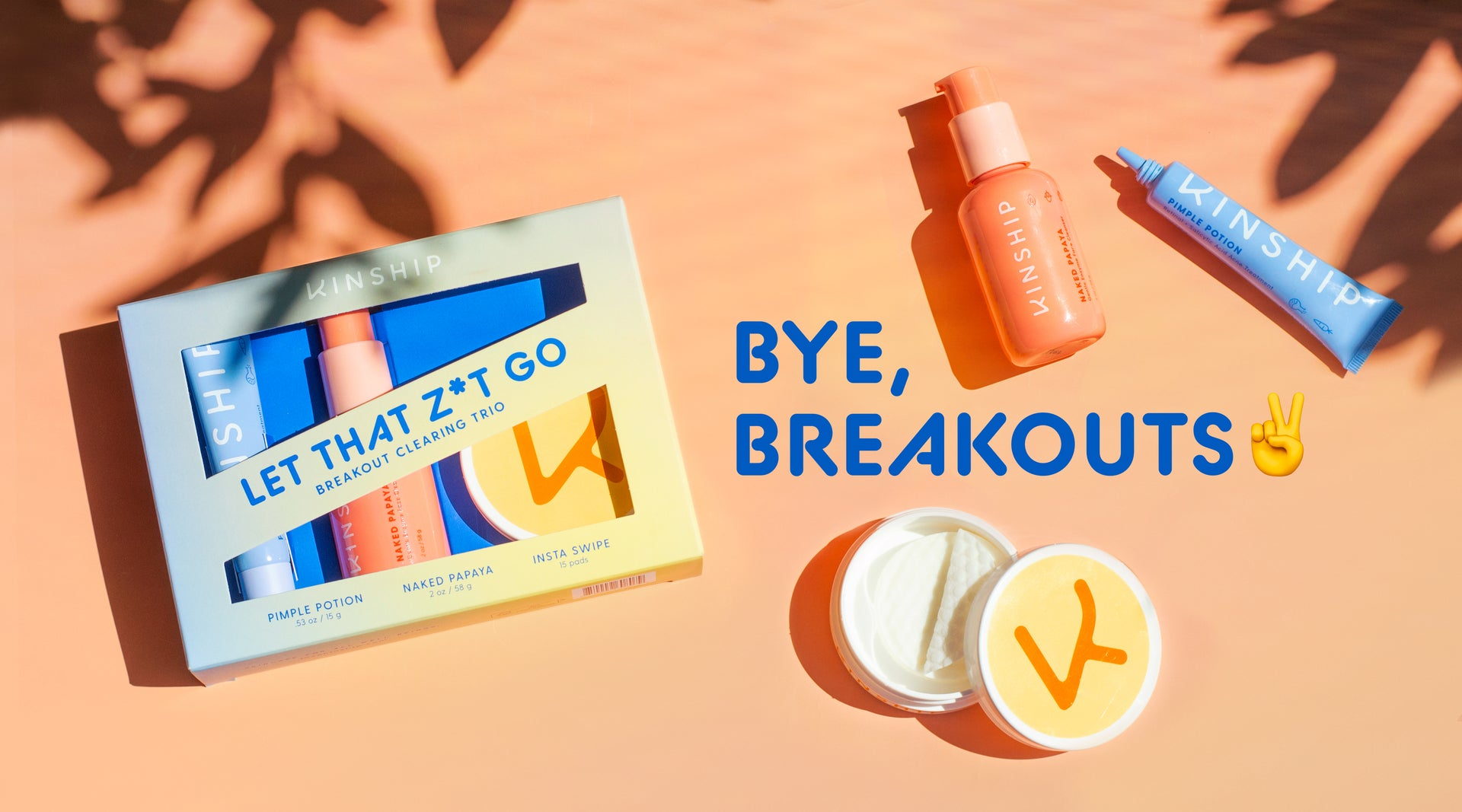 Introducing Let That Zit Go, a 3-piece acne-clearing set | Kinship