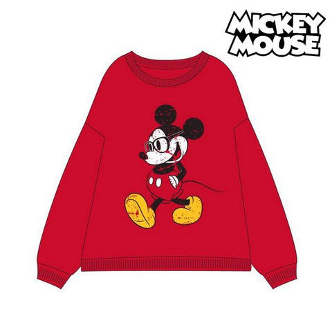 Damen Sweater ohne Kapuze Mickey Mouse 74875 Rot