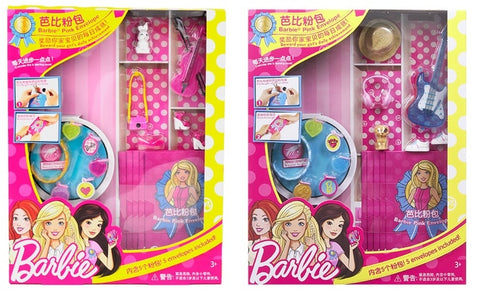Barbie Accessories with 5 Pink bag shoes - assorted style