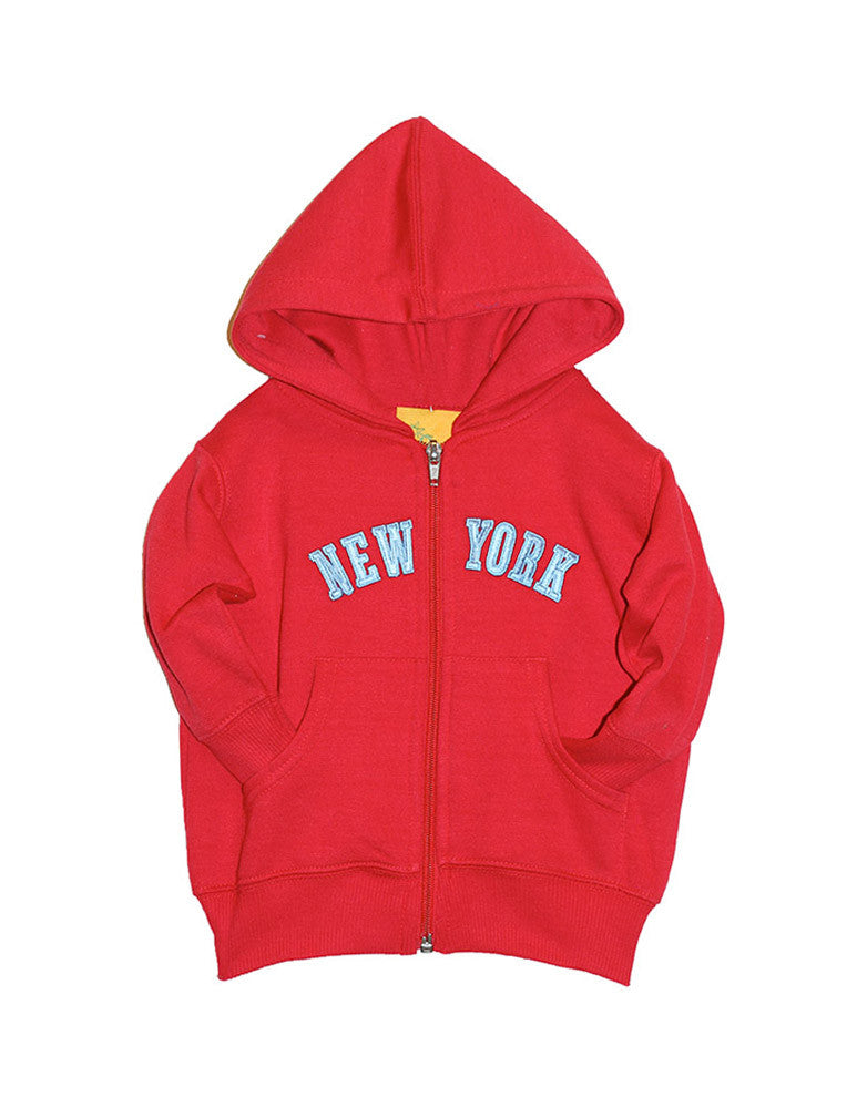 Red New York Hoodie