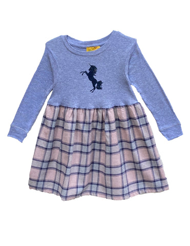 Fall Blue Unicorn Dress