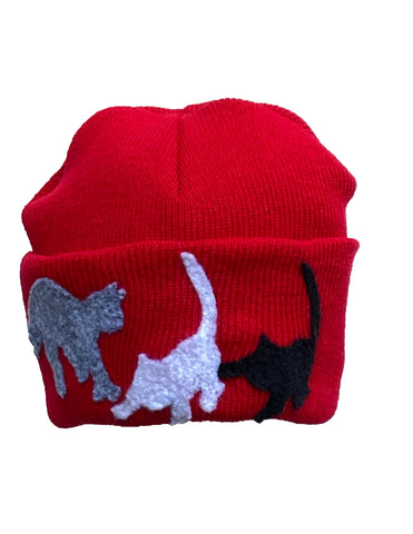 Cats pull down hat