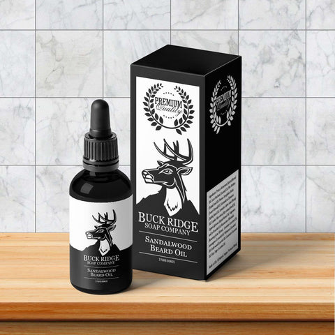 Buck Ridge Sandalwood Premium Beard Oil | AmeriSkin Naturals