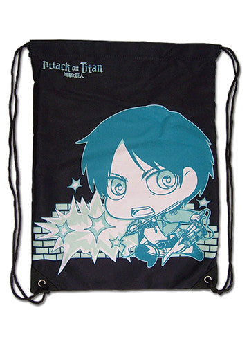 Attack On Titan - Eren & Titan Drawstring Bag Shadow Anime