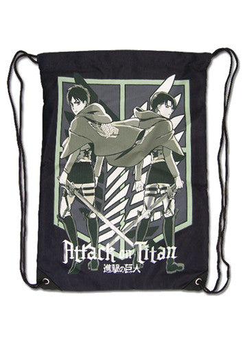 Attack On Titan Eren & Levi Drawstring Bag