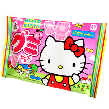 Kanro - Hello Kitty Peach Gummy 0.67 oz Shadow Anime
