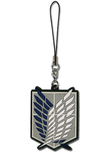 Attack On Titan - Survey Corps Cell Phone Charm Shadow Anime
