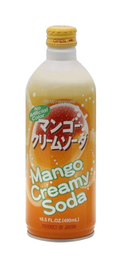 UCC Mango Creamy Soda 16.5 oz Japanese Bottled Drink