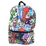 "Legend of Zelda Chibi All Over 17"" Backpack Bag"