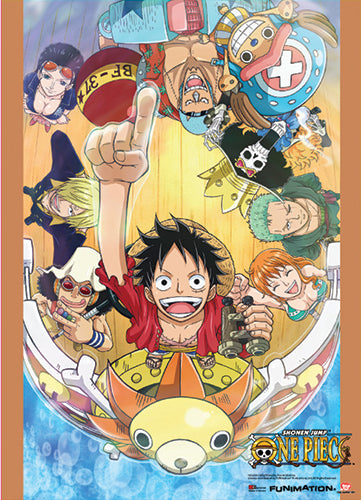 One Piece Group Go On Board Wall Scroll