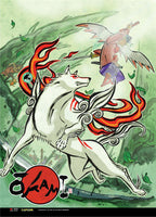 Okami Amaterasu & Waka Wall Scroll
