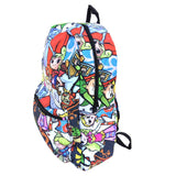 "Legend of Zelda Chibi All Over 17"" Backpack Bag Right Side"