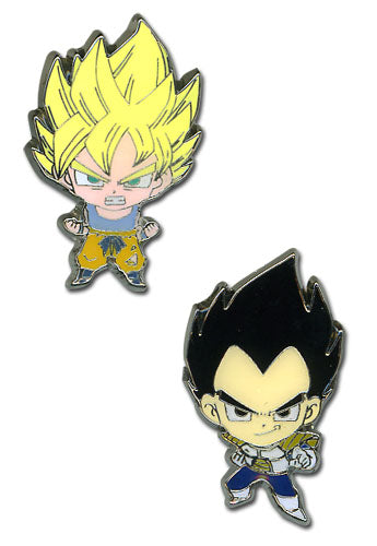Dragon Ball Z Super Saiyan Goku & Vegeta Mini Pins Set of 2