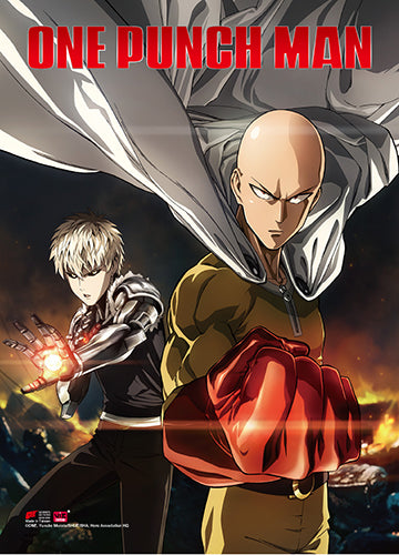 One Punch Man Key Art Wall Scroll