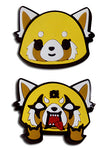 Aggretsuko Happy & Rage Face Pins Set of 2