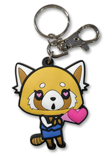 Aggretsuko In Love Keychain