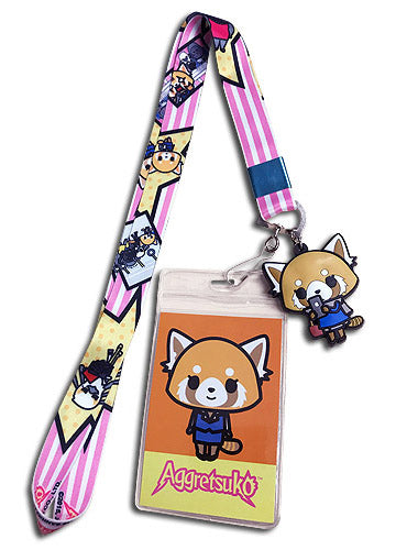 Aggretsuko & Friends Lanyard W/ Charm