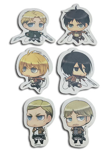 Attack On Titan Characters Sticker Set