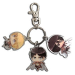 Attack On Titan Eren, Mikasa and Armin Metal Keychain