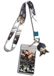 Attack On Titan Group Lanyard W/ Eren Charm