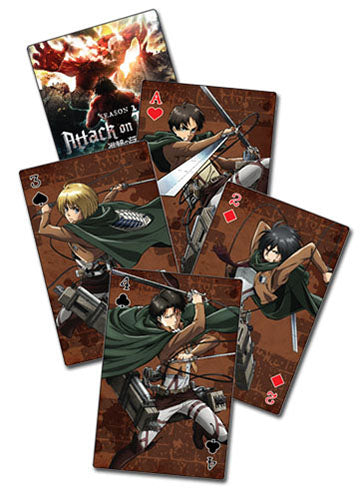 Attack On Titan S2 Group Poker Playing Cards