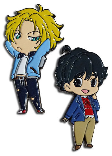 Banana Fish Eiji & Ash Lapel Pins Set of 2