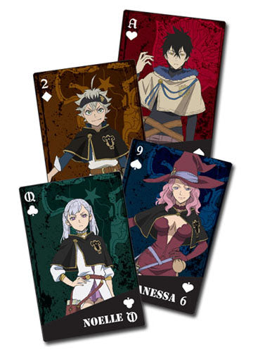 Black Clover Group Poker Playing Cards
