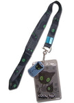 Blue Exorcist Ao No Coal Tar Lanyard W/ Charm