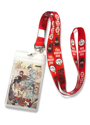Cells At Work Red Blood Cell Lanyard
