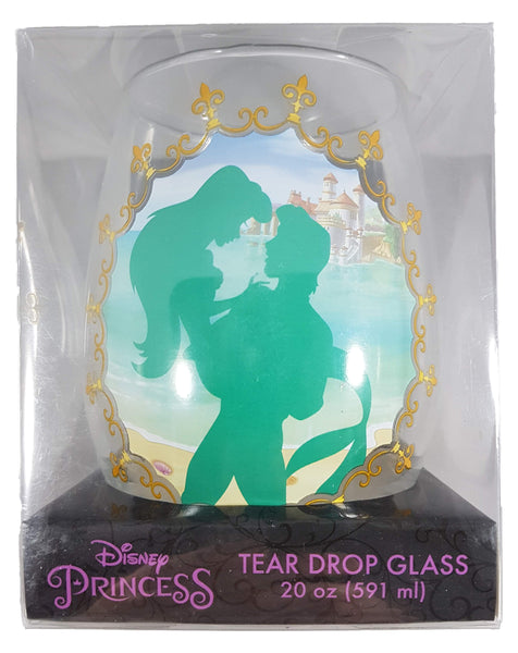 Disney Princess The Little Mermaid Silhouette Teardrop Wine Glass