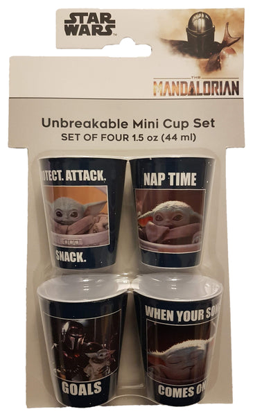 Disney The Mandalorian Unbreakable Mini Collectible Cups 1.5 oz