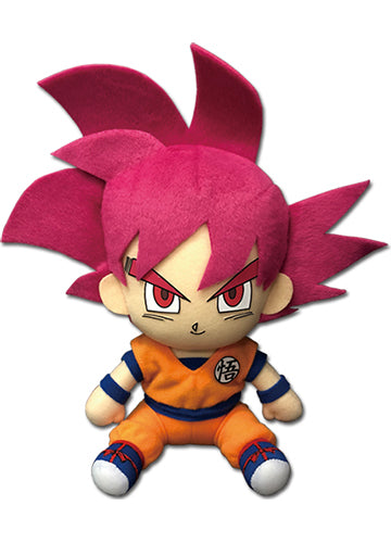 "Dragon Ball Super Z SSGSS Red Goku 7"" Sitting Plush Doll"