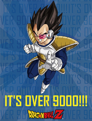 Dragon Ball Z It's Over 9000!!! Vegeta Throw Blanket