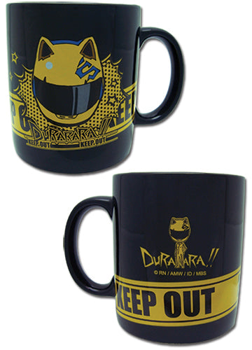 Durarara!! Celty Helmet Keep Out Black Mug