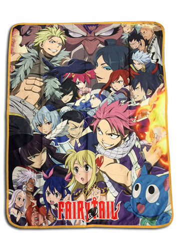 Fairy Tail Big Group Throw Blanket