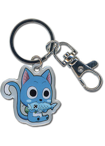 Fairy Tail - Happy Metal Keychain Shadow Anime