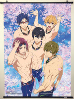 Free! Group In Pool With Sakura Wall Scroll Sample