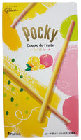 Glico Pocky Couple de Fruits Lemon & Peach Covered Biscuit Sticks 2.7oz