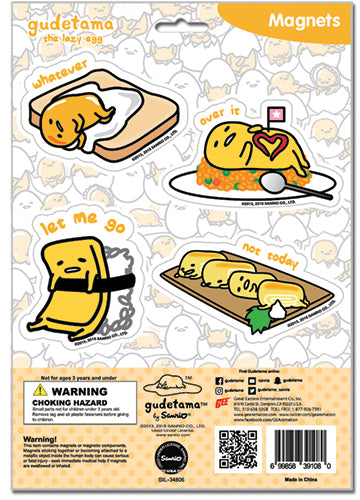 Gudetama Foods Magnet Collection