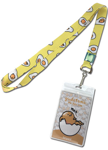 Gudetama The Lazy Egg Yolk Meh Lanyard