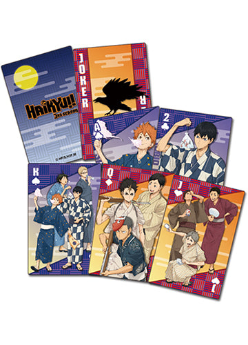 Haikyuu!! Group In Yukata Poker Playing Cards